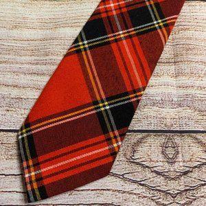 Vintage Plaid Rooster Short Men's Necktie